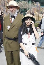 Emerald City Comic con 2013: Jade + Grandpa Harley by strawberrymilkchan
