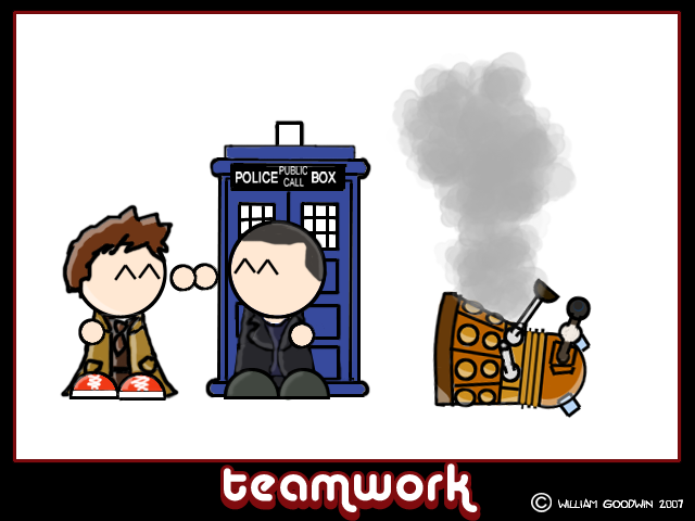 Mini Doctor Who - Teamwork by willmeister42