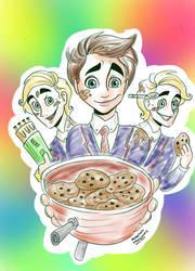 Kurt n' Cookies -Mcha10Colour- by Artemismoon12