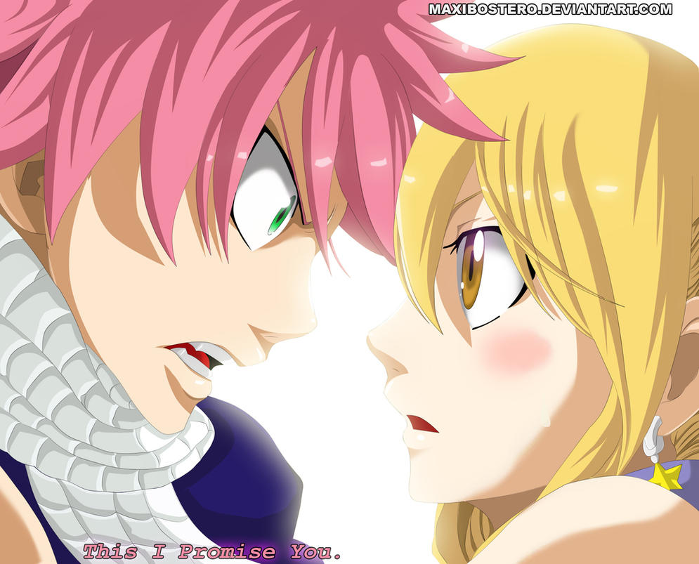 Natsu X Lucy Fairy tail 425 by Maxibostero on DeviantArt