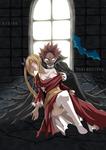 Natsu and Lucy Halloween