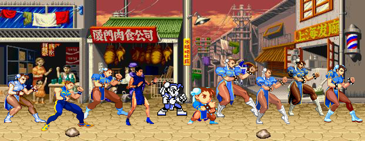 Chun-Li: Sprites Over The Years by TheMikko