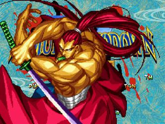 Mikko Loves Gaming : Samurai Shodown V, Genjuro by TheMikko