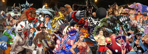 Fighting Game Powerhouse Tribute by TheMikko
