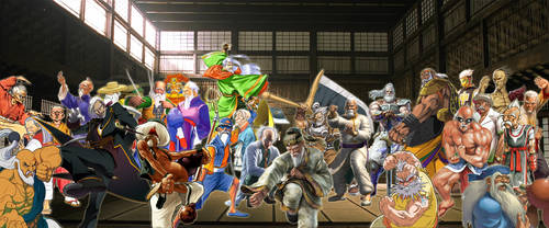 Old Masters Of Fighting Games Tribute by TheMikko