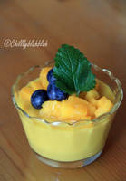 Mango Milk Pudding I by Chilllyblahblah