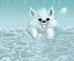 Furball on Ice by kara-kedi