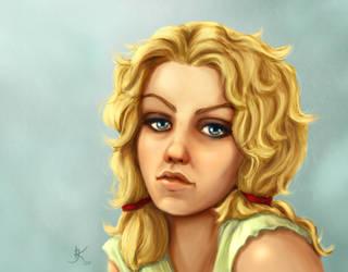 Retro Girl by kara-kedi