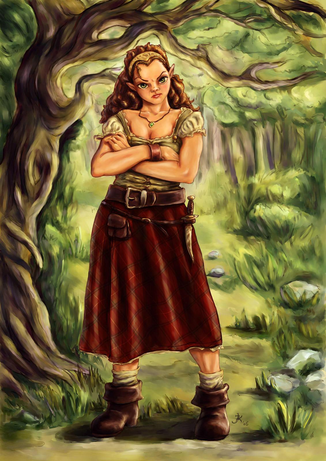 Hobbit Girl by kara-kedi
