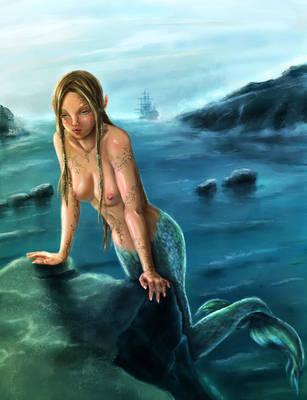 Lil' Mermaid by kara-kedi