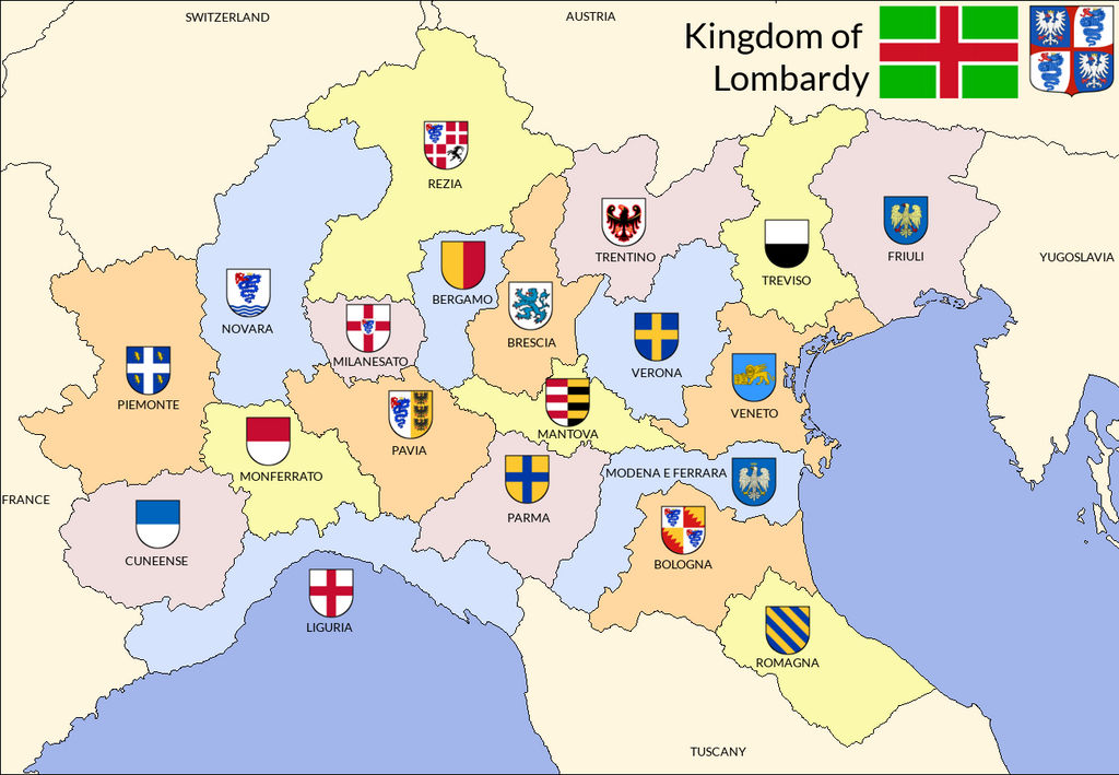 Provinces of the Kingdom of Lombardy by Medhelan1395