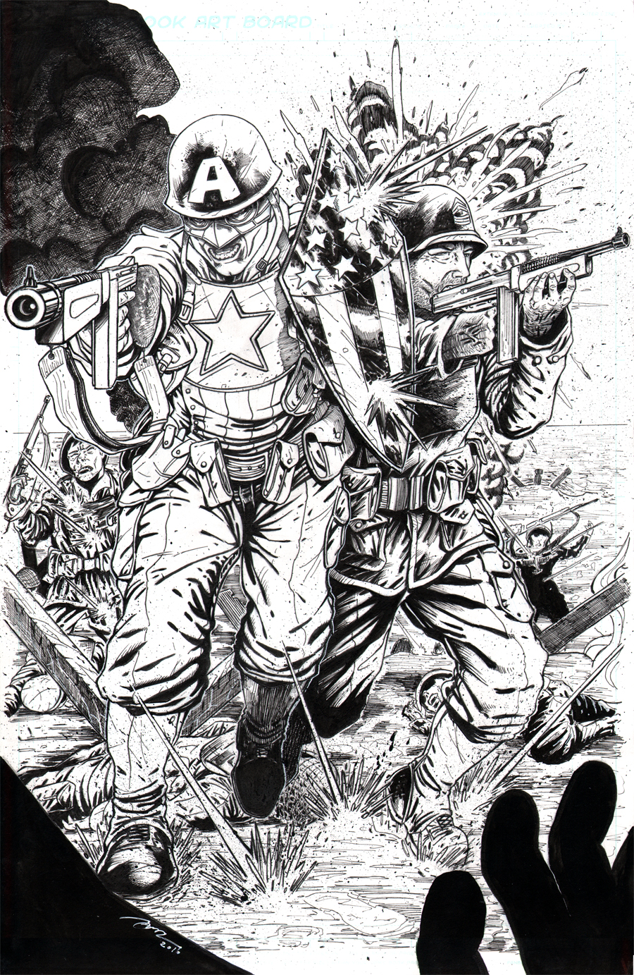 cap america sgt rock wwii by billdinh on deviantart