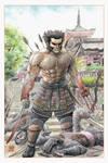 Samurai Wolverine in Kiyomizu Temple