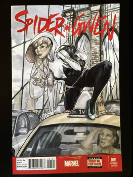 Spider-Gwen Sketch Cover Commission