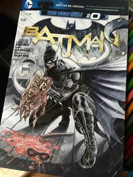 Batman Jason Todd Death Sketch Cover