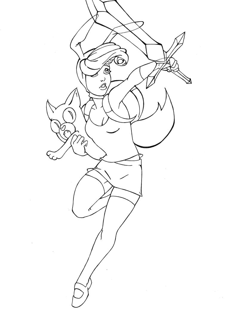 adventure time with fiona and cake wip by billjersey on deviantart