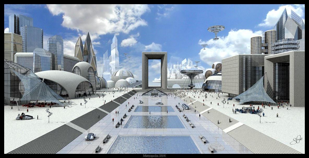 45 Incredible Futuristic Scifi 3D City Illustrations