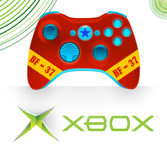 Franky Xbox 360 Controller Design by xDoubleLx