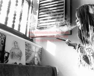 Smoking Mary by WhiteGaby