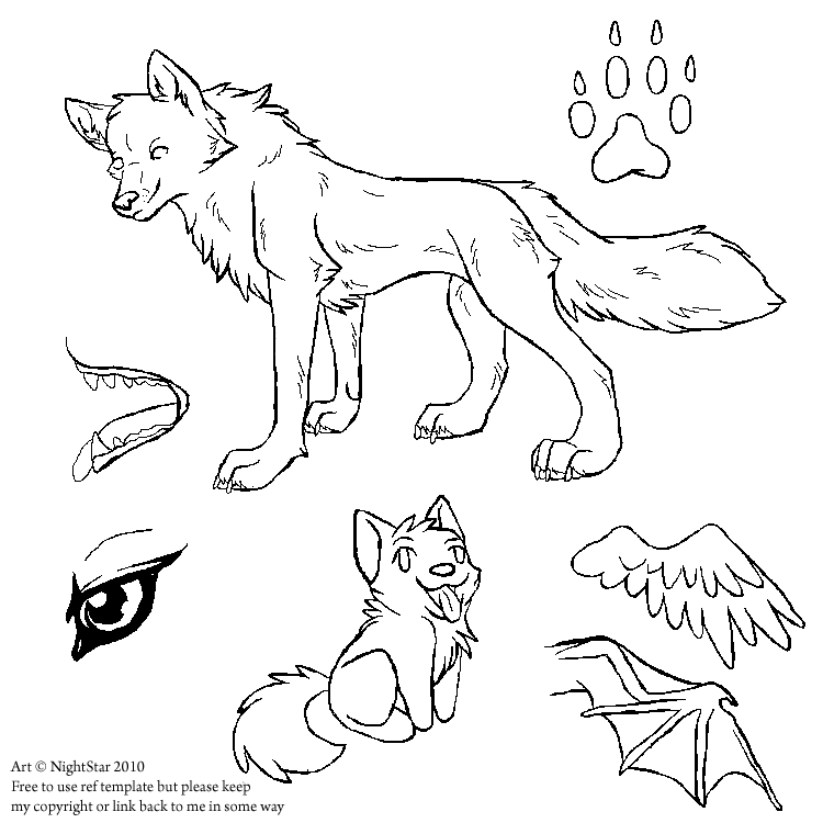 friendly wolf coloring pages - photo#36