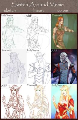 Switch around meme: all elves
