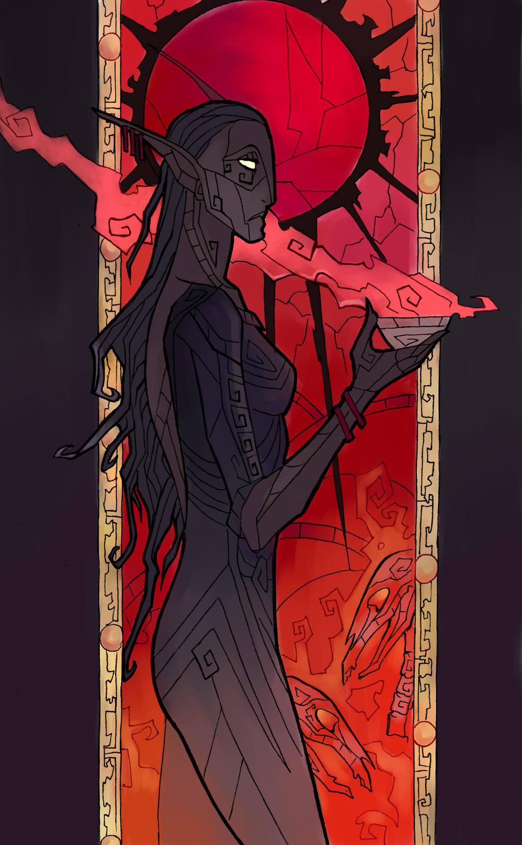 Kirenthi priestess by LadySiryna
