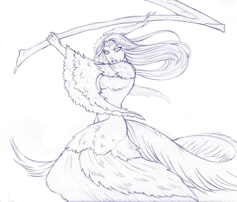 Crossbreed Priscilla sketch by LadySiryna