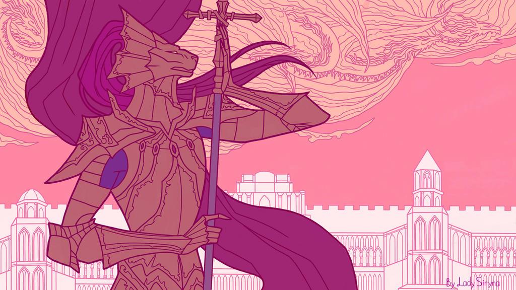 Dragonslayer Ornstein by LadySiryna