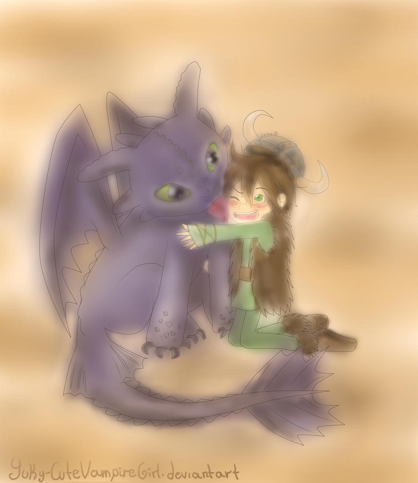 Hiccup and Toothless by Yuky-CuteVampireGirl