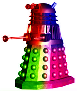 A Psychedelic Dalek by whiteknightjames