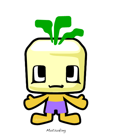 VegeCubic Turnip by mutsuking