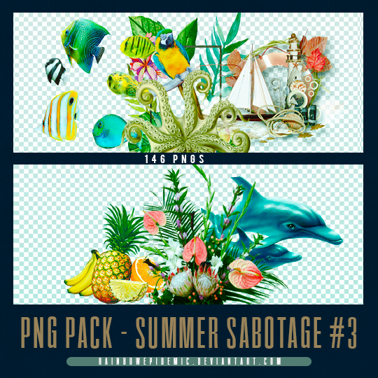 Summer Sabotage PNG Pack 03 by Sativa by Rainbowepidemic