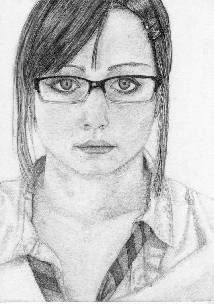 Self portrait in pencil by glowingturtle444 on deviantart