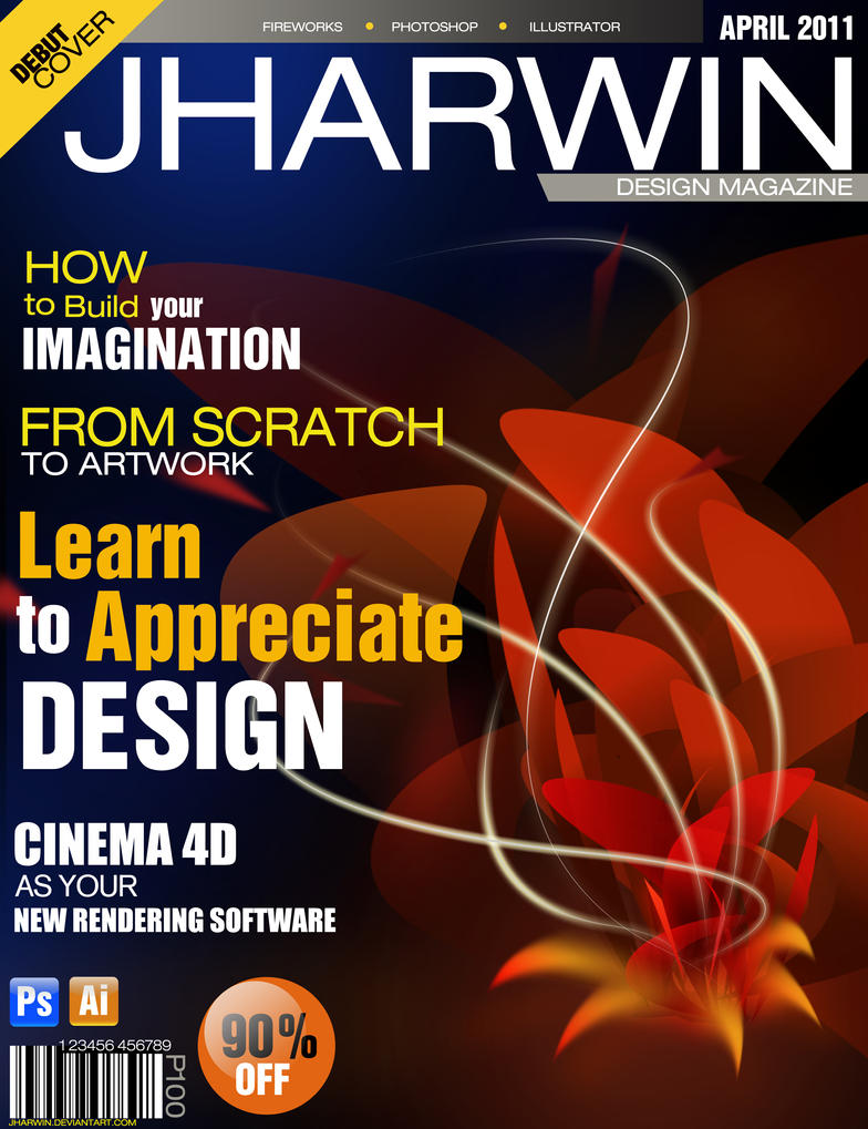my first magazine cover design by jharwin on deviantart