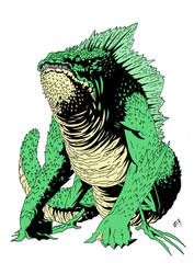 IGUANA MONSTER by Andrew-Ross-MacLean