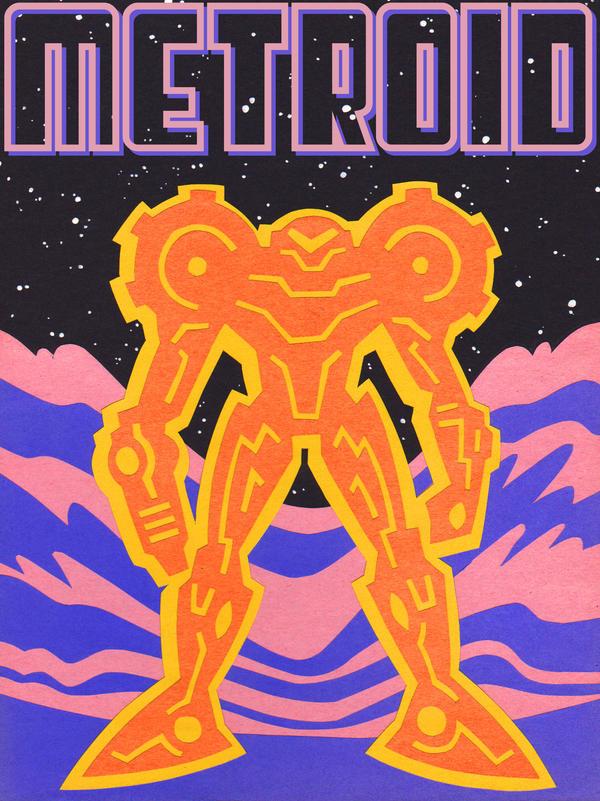 SUPER SAMUS PAPER METROID by Andrew-Ross-MacLean