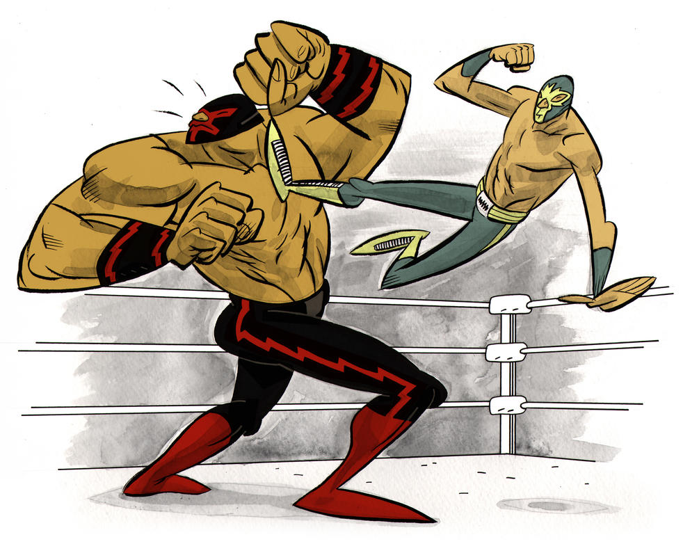 Lucha Kick by Andrew-Ross-MacLean