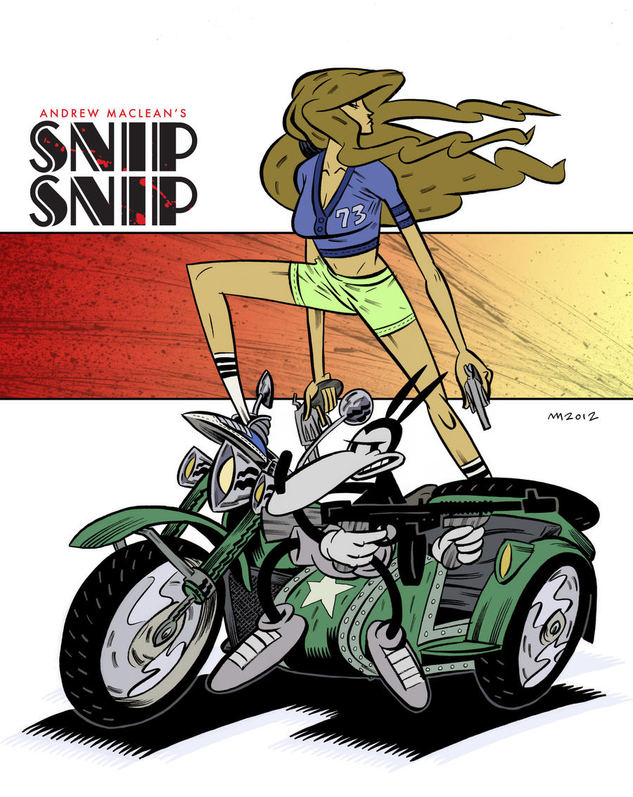SNIP SNIP Bikers by Andrew-Ross-MacLean