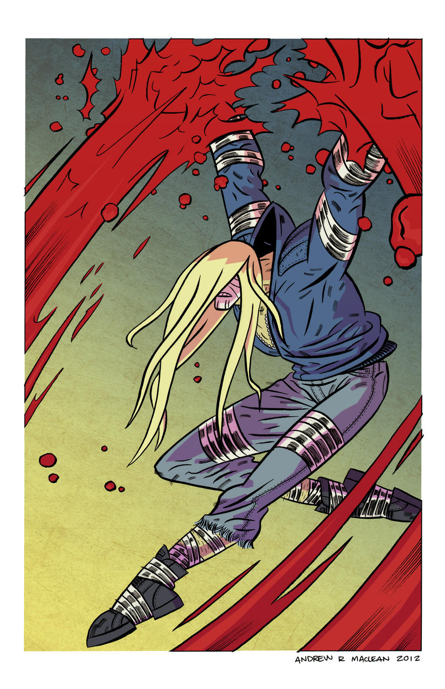 Luther Strode Pinup by Andrew-Ross-MacLean