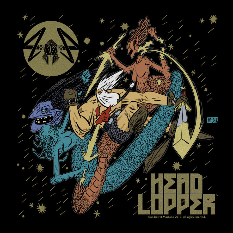 HEAD LOPPER The Muses T-Shirt by Andrew-Ross-MacLean