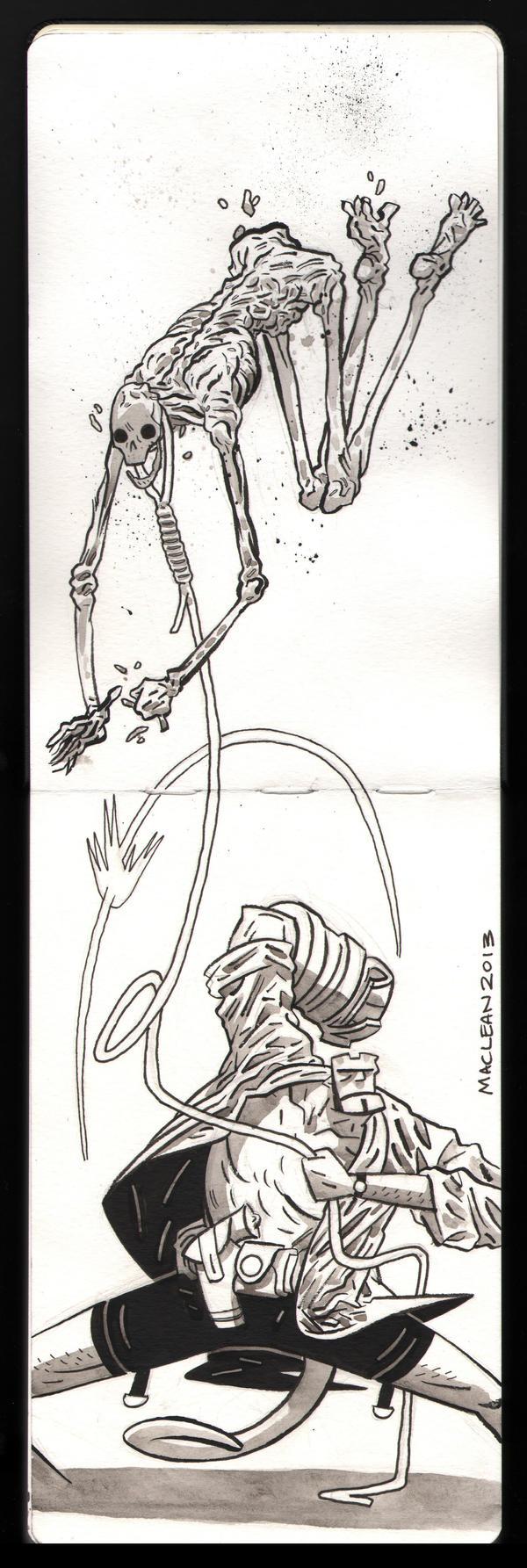 Sketchbook Hellboy by Andrew-Ross-MacLean