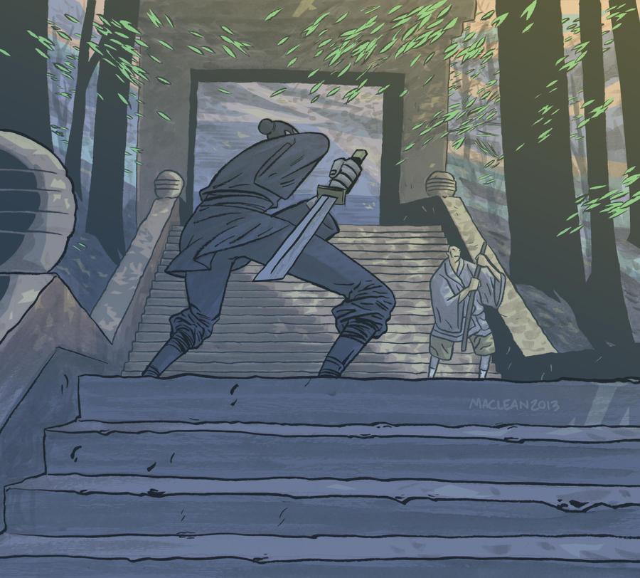 Zatoichi by Andrew-Ross-MacLean