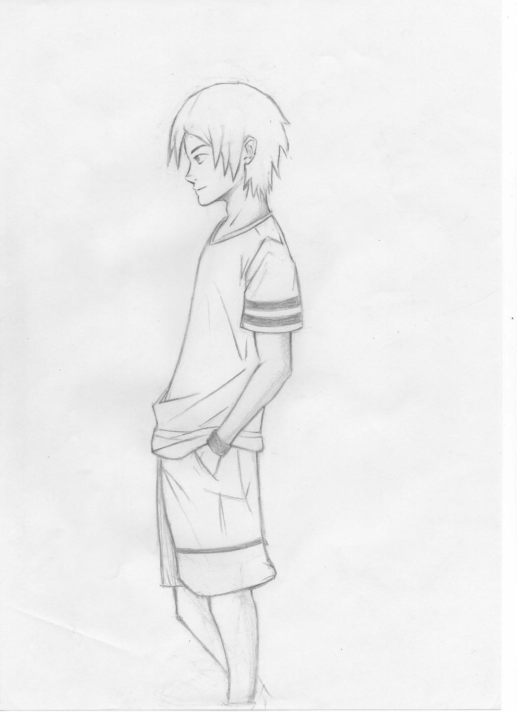 Side Face Line Drawing : Drawing boy side view by lavioude on deviantart