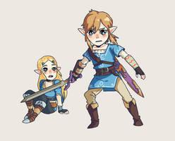Protect Zelda by kamifoxart