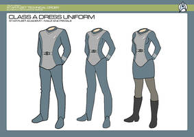 Phase 2 - Starfleet Academy Dress Uniform by JBogguess