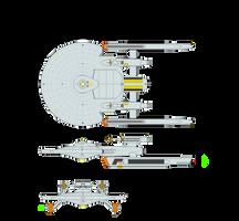 Class I Escort - Axanar Class by JBogguess