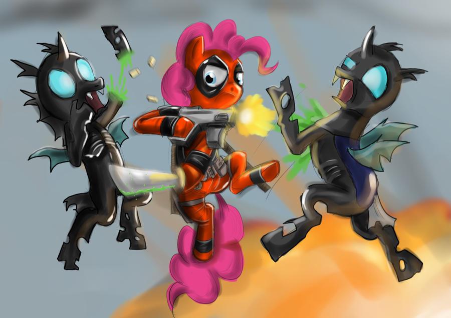Pinkie Pool vs Changelings. by Pinkie-Pool