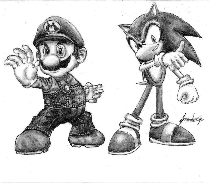 Mario y Sonic by juannando12 on DeviantArt