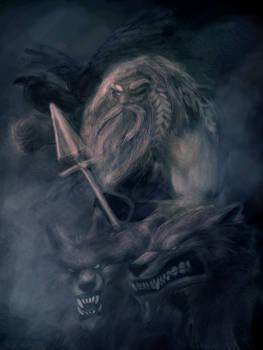 Odin in the mist
