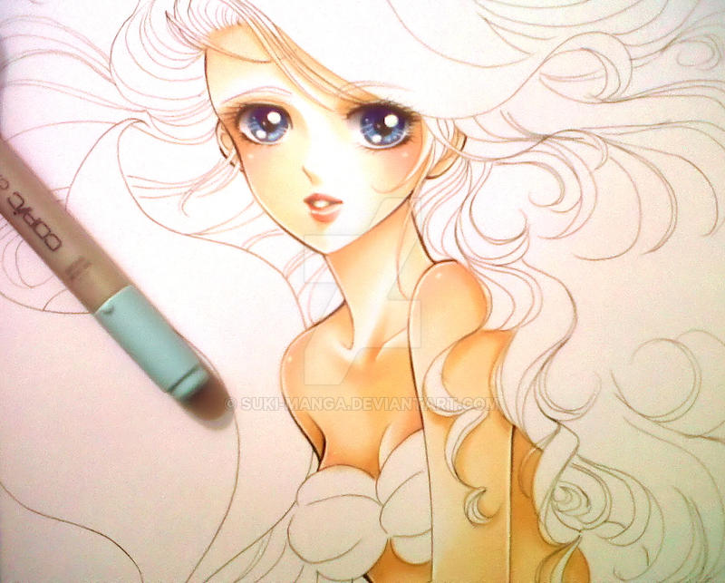 The Little Mermaid, WIP (detail) by Suki-Manga